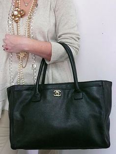 3f8a0487333a57 21 Best Chanel executive tote Bags* images | Bags, Tote Bag, Tote bags