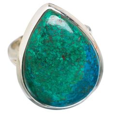 Chrysocolla 925 Sterling Silver Ring Size 6.75 RING759652