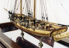 Ship model of Baltimore clipper 1818  From http://www.shipmodel.com