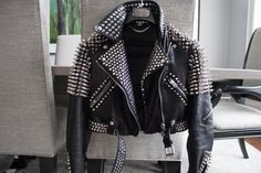 #Handmade #Brando #Style #Punk #Half #Silver #Spiked #Woman #Studded #Cowhide #Leather #Jacket #Front #Zipper #Brando #Fashion #Party Studded Leather Jacket, Black Leather Belt, Half Jacket, Jacket Style, Biker Style, Jacket Men, Punk Jackets, Biker Jackets, Time 7