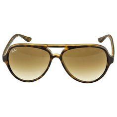 ray ban sunglasses aviator tortoise  ray ban cats aviator light brown gradient sunglasses rb4125 710/51 ($87) ?