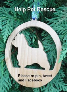 Help Pet Rescue Ornaments available at http://pawpawsworkshop.etsy.com