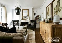Cozy Masculine Space: {Jimmy Stanton} Atlanta Homes  Lifestyles Decorators Showhouse 2012  Usual way to store books,