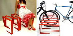 Modular bicycle stands designed for better cities