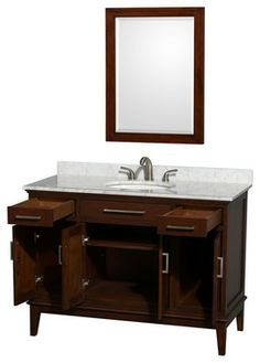 72 Boardwalk White Double Vanity With Carrera Marble Top Round