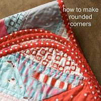 Good idea! Rounded corners look sweet on a quilt.