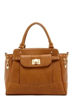 Solid Turn-Lock Satchel