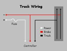 Typical 4Lane Track wiring Diagram slot cars Slot