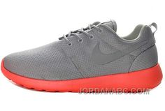 http://www.jordanabc.com/nike-roshe-run-junior-mens-gray-red-shoes.html NIKE ROSHE RUN JUNIOR MENS GRAY RED SHOES Only $74.00 , Free Shipping!
