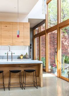 Bright; view of yard; great design