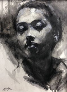 Original Painting Portrait Modern Woman by Krystyna81 on Etsy