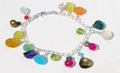 Mix Gemstones Bracelet Wrap your wrist in style with this Mix Gemstones fringe bracelet. Gemstone Bracelets, Bangle Bracelets, Bangles, Bare Women, Beaded Jewelry, Jewelry Making, Gemstones, Sterling Silver, Elegant