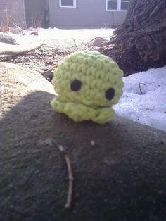 Sea Green Baby Octopus Amigurumi  Handmade Crochet by OwlPudding, $7.00