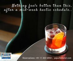 Cool down this scorching heat and mid-week work schedules. Enjoy every bit of it along with few glasses of sparkling beverages and yummy platters with us at #ChillBar Reservations: +91 11 404 68961 or, Visit us: jaipurhometel.com #Bar #Cocktail #ChillBar #BarsinJaipur #jaipurbars #NirwanaHometelJaipur #JaipurHotels