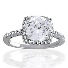 Bling Jewelry Sterling Silver 2.9 ct Round Brilliant CZ Antique Style Engagement Ring by ohhjewelry