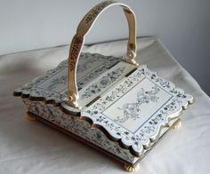 Superb-Anglo-Indian-Sewing-basket-Vizagapatam-1850