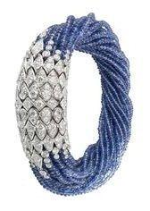 Cartier sapphire and diamond torsade bracelet Bracelet Cartier, Cartier Jewelry, Diamond Bracelets, Gems Jewelry, Sea Glass Jewelry, Crystal Jewelry, Bangle Bracelets, Fine Jewelry, Jewellery