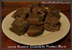 Clean Eat Recipe :: Jamie Eason's Chocolate Protein Bars ~ He and She Eat Clean #JamiesGlutenfreerecipes