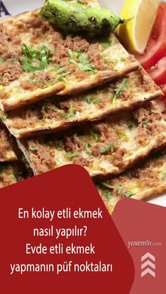 800 yıldır Konya sokaklarının mis gibi kokulara sahip olmasını sağlayan ve en meşhur lezzetlerinden biri olan etli ekmek tarifini evde hazırlamanın yollarını sizlerle paylaşıyoruz. Çay saatlerinden akşam yemeklerine kadar uzanan lezzetiyle adeta mest olacağınız etli ekmeğin yapımı sadece yasemin.com'da!