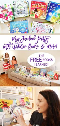 My Facebook Party with Usborne Books! This is what I earned for just inviting friends! So many FREE books! Check out my choices and what convinced me to join the team!