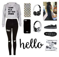 """""""Untitled #53"""" by ardrey on Polyvore featuring Topshop, Puma, Forever 21, Beats by Dr. Dre, NIKE and Givenchy"""