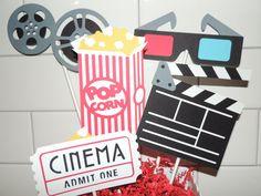 Movie birthday party centerpiece. Cinema by ArtofEntertaining