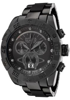 Image for Men's Reserve Chrono Black IP SS and Dial from World of Watches