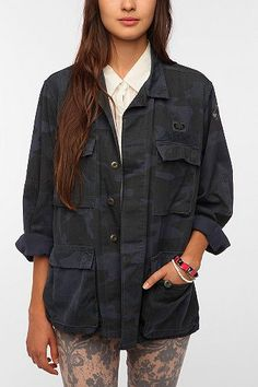 Urban Renewal Over-Dyed Camo Jacket