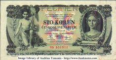 Ceskoslovensko prva republika - predok 100ka The 100, Let It Be, Money, Retro, World, Banknote, Image, European Countries, Czech Republic