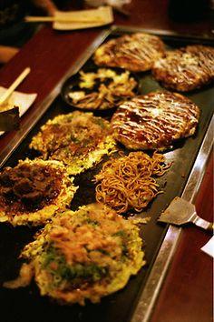 Okonomiyaki and Yakisoba