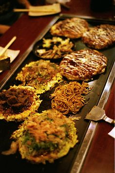 Okonomiyaki... my favourite Japanese food!