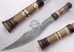 "18.25"" Custom made Beautiful Damascus Steel Bowie Knife (AA-0368-1) #UltimateWarrior"