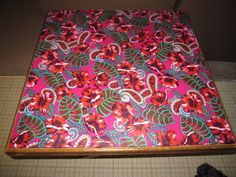 Siik Scarf Decoupage Table