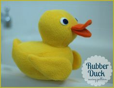 Plush Rubber Duck PDF Sewing Pattern by whileshenaps on Etsy, $9.00
