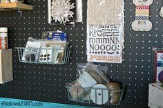 Craft Room Pegboard Organization - DIY pegboard tutorial