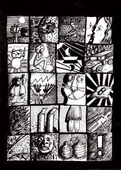 """""""Silent comic"""", illustration/ postcard by Zoran Gavrilovic"""