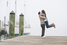 Foggy Annapolis Engagement Session from Natalie Franke - Beautiful!