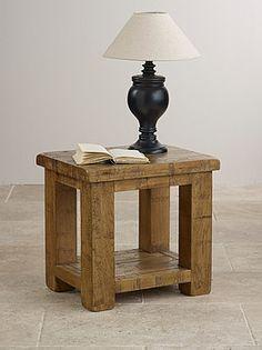 Ordinaire Ripley Rough Sawn Solid Oak Lamp Table