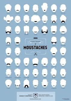 A Visual Treasury of Moustaches Infographic