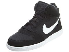 c6d9a7cb896fe Nike Court Borough Mid Little Kids Style Shoes   Black White