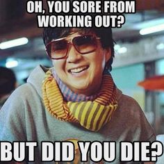 Sore #chow #workout #lol