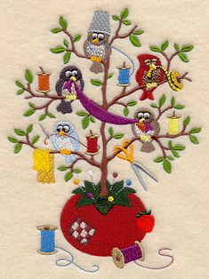 "Sew Sweet Tweet	Product ID:	D3692 Size:	4.87""(w) x 6.62""(h) (123.7 x 168.1 mm)	Color Changes:	27 Stitches:	34486"