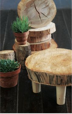 DIY tree tables