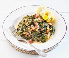 Καλαμαράκια με σπανάκι | Συνταγή | Argiro.gr - Argiro Barbarigou Fish Recipes, Risotto, Spinach, Seafood, Diet, Ethnic Recipes, Greece, Photos, Sea Food