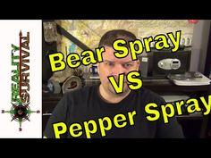 Survival Myth: Bear Spray VS Self Defense Pepper Spray - YouTube