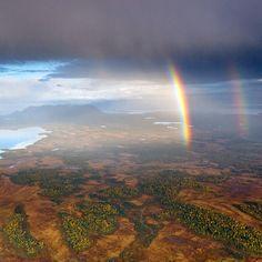Arcobaleno doppio in #Alaska