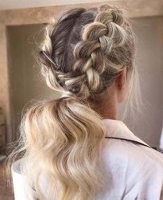 Ponytail Hairstyles For Young Girls ponytail hairstyles black; ponytail hairstyles step by step; ponytail hairstyles for kids; Medium Hair Styles, Curly Hair Styles, Natural Hair Styles, Hair Styles For Formal, Side Braid Hairstyles, Straight Hairstyles, Blonde Hairstyles, Classy Hairstyles Medium, Easy Hairstyle