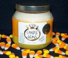 "LIMITED EDITION Candle Gem (CANDY CORN). Three Layers: white~ Candy Corn, orange~ Creamy Caramel, yellow~ Autumn Splendor. Available until November 1, 2013.  $22.99. Remember this is a Candle GEM so it comes w/ a FREE ring (choose your size or be surprised) that's worth $10-$1,000+! ""Shop Now"" at www.bellsoyscents.com"