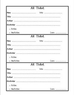 Use this form to keep track of your students' Accelerated Reader test scores. Put a basket by the test computer where students can deposit the com. - Use for Reading Counts - Reading Resources, Reading Strategies, Reading Activities, Teaching Reading, Ar Reading, Teaching Ideas, Reading Counts, Reading Levels, Third Grade Reading
