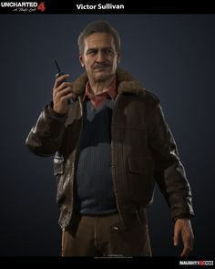 Uncharted 4 character - Victor Sullivan I am very honored to be the lead character artist on Uncharted 4 - A Thief's End. This is one of the main character i did. Art director - Neil Druckmann Concept was done by Hyoung Man I did the head and hand Victor Sullivan, Jak & Daxter, Uncharted Series, A Thief's End, Game Of Survival, Hunting Party, Zombie Art, The Uncanny, Sully